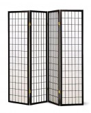 Coaster Black Four Panel Room Divider Available Online in Dallas Fort Worth Texas