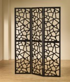 Coaster Wilson Intricate Mosaic Black Folding Screen Available Online in Dallas Fort Worth Texas
