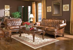 Coaster Victoria Leather Sofa & Loveseat Set Available Online in Dallas Fort Worth Texas