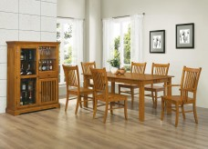 Marbrisa Mission Oak 7pc Dining Set Available Online in Dallas Fort Worth Texas