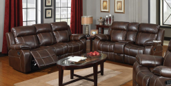 Coaster Myleene Chestnut Sofa & Loveseat Set Available Online in Dallas Fort Worth Texas