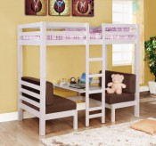 Lexie White Twin/Twin Convertible Bunk Bed Available Online in Dallas Fort Worth Texas