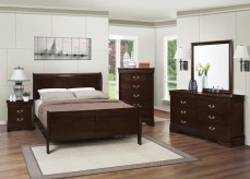 Louis Philippe Brown 5pc Queen Bedroom Group Available Online in Dallas Fort Worth Texas