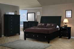 Sandy Beach Black 5pc Queen Storage Bedroom Group Available Online in Dallas Fort Worth Texas
