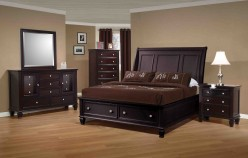 Coaster Sandy Beach Cappuccino 5pc Queen Storage Bedroom Group Available Online in Dallas Fort Worth Texas