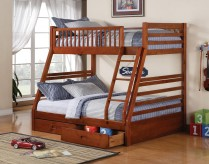 Coaster Cooper Honey Oak Twin/Full Bunk Bed Available Online in Dallas Fort Worth Texas