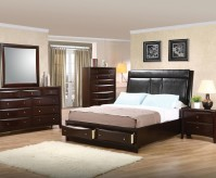 Coaster Phoenix Queen 5pc Flip Down Console Platform Bedroom Group Available Online in Dallas Fort Worth Texas