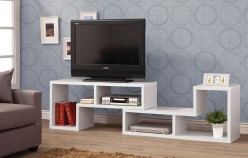 Coaster The Akward White TV Console Available Online in Dallas Fort Worth Texas